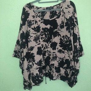 Karen Kane 100% Silk Kimono Tunic Size L